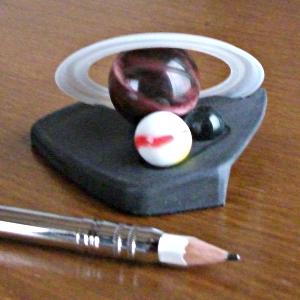 土星おもちゃ・ビー玉取替えの例